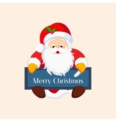 Christmas Santa Claus with a Chalkboard vector image