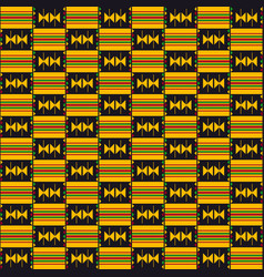 Cloth kente african seamless pattern vector