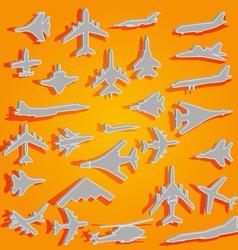 Combat aircraft team vector