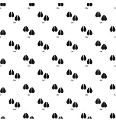 Cow step pattern seamless vector