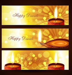 Diwali headers set vector