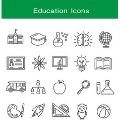 education icons set design vector image