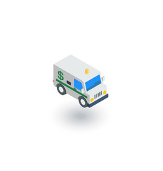 encashment service car bank collector van money vector image