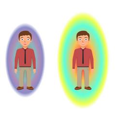 energetic healing pranic healing alternative vector image