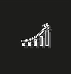 financial graph - analytics chart financial data vector image