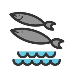 Fish Swimming in Water vector