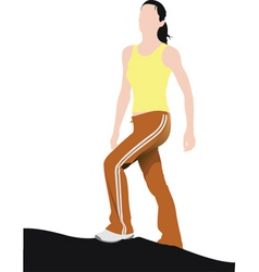 fitness training vector image