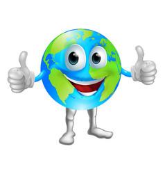 Globe mascot character vector