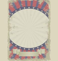 Grunge vintage background with decorative frame vector