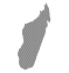Hexagonal madagascar island map vector