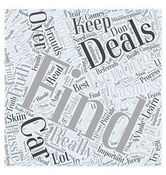 How to find the deals Word Cloud Concept vector