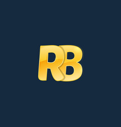 initial letters rb r b with logo design vector image