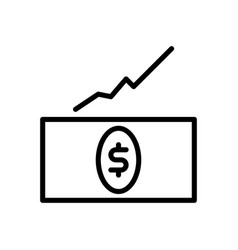investment profit icon vector image