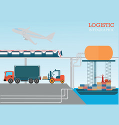 logistic info vector image