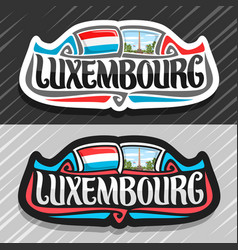 Logo for luxembourg vector