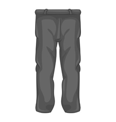 Mens sport pants icon black monochrome style vector image