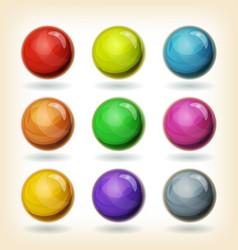 Multicolored balls set vector