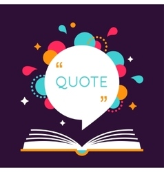 Open Book with Space for Quote vector image