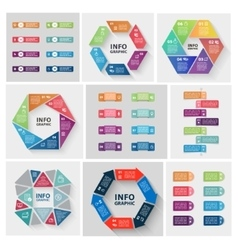 Paper triangle stickers and labels with vector