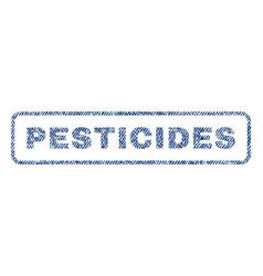 Pesticides textile stamp vector