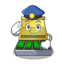 Police electronic cash register isolated on a vector