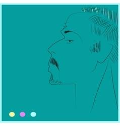 Portrait of man vector image