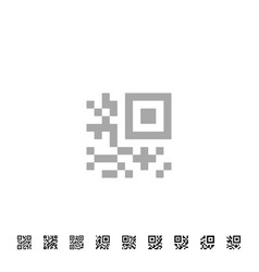 Qr code icons vector