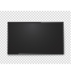 realistic tv screen media and entertainment vector image