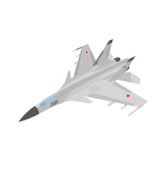 Russian jet fighter aircraft painted vector