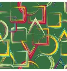 Seamless geometric grange hand drawn paint brash vector