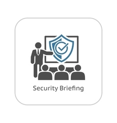 Security Briefing Icon Business Concept vector
