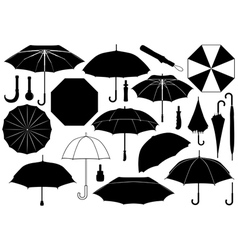 Set of different umbrellas vector image