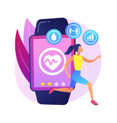 Sport and fitness tracker abstract concept vector