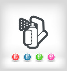 Spray icon vector