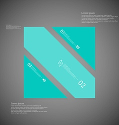 Square template consists of three blue parts on vector