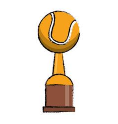 Tennis award cup sport win vector