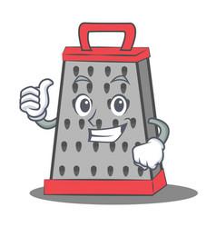 Thumbs up kitchen grater character cartoon vector