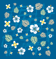 tropical flowers texture vector image