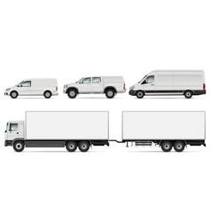 trucks and vans vector image