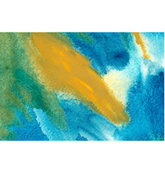 Turquoise and yellow watercolor wallpaper vector