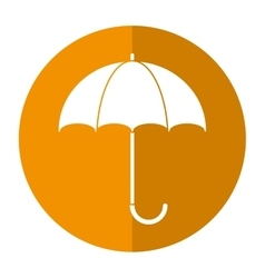 umbrella accessory protect handle shadow vector image