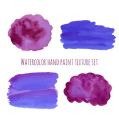 Watercolor abstract design elements in violet vector