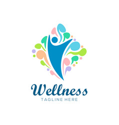 wellness health logo and icon design vector image