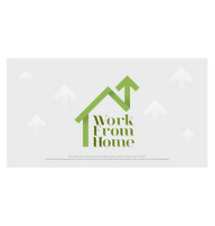 work from home business logo stay and working vector image
