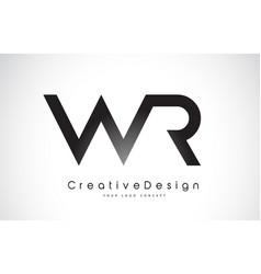 Wr w r letter logo design creative icon modern vector