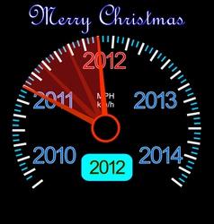 2012 dashboard vector image vector image
