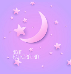 beautiful background with the moon and stars in vector image