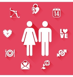 Flat Love Concept vector image vector image