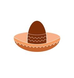 icon mexican hat vector image