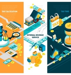 Tax Banners Set vector image vector image